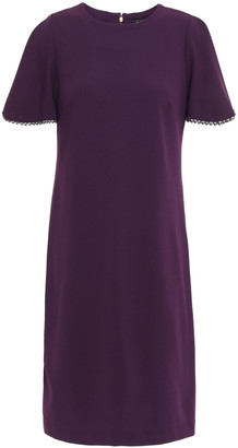 DKNY Bead-trimmed Stretch-crepe Mini Dress