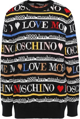 Love Moschino Cotton-jacquard Sweater