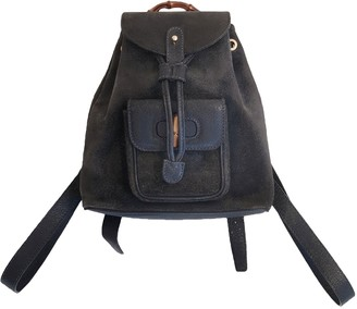 Gucci Navy Suede Backpacks