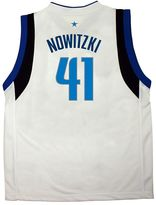 adidas Boys 8-20 Dallas Mavericks Dirk Nowitzki White NBA Jersey