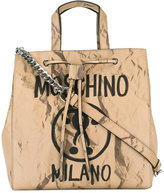Moschino question mark print shoulder bag - women - Calf Leather/Metal (Other) - One Size