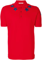 Givenchy star appliqué polo shirt