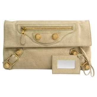 Balenciaga Envelop Beige Leather Clutch bags