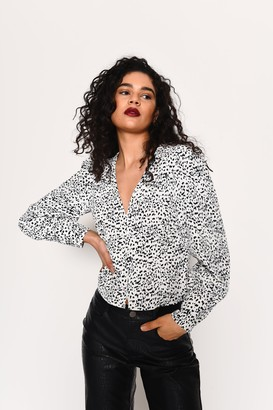 Glamorous Womens **Dalmatian Button Down Blouse By Multi