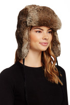 Surell Genuine Rabbit Fur Russian Aviator Hat