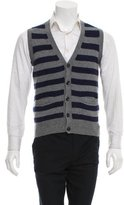 Tim Hamilton Striped Camel Hair Sweater Vest