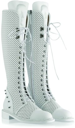 Ganor Dominic Enyo White Perforated Boots