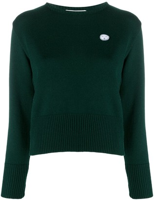 Societe Anonyme Logo Patch Round Neck Jumper