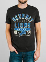 Junk Food Clothing Nfl Detroit Lions Tee-black Wash-s