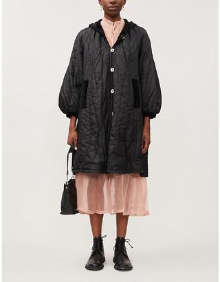 Renli Su Reversible hooded padded silk jacket
