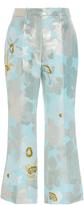 Paule Ka Floral Jacquard Cropped Trouser