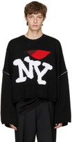 Raf Simons Black Oversize 'I Love NY' Sweater