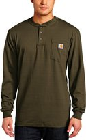 Carhartt Men's Workwear Pocket Long Sleeve Henley Midweight Jersey Original Fit