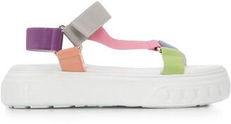 Casadei Multicolour Strap Platform Sandals