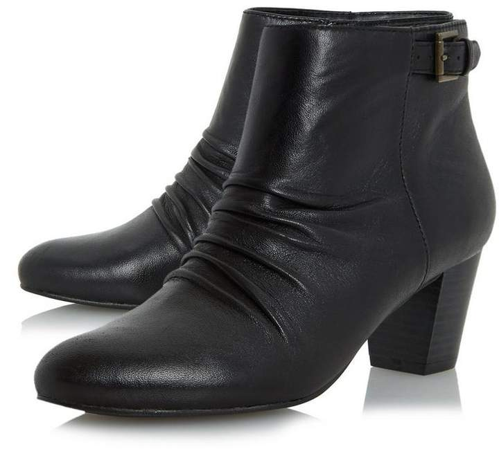 Roberto Vianni ORNITA - Buckle Detail Ruched Ankle Boot