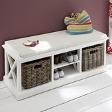 Infinita Corporation Halifax Wood Storage Entryway Bench