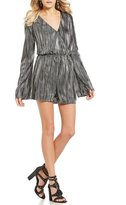 GB Pleated Foil Romper
