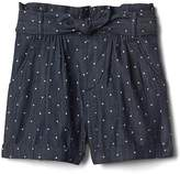 Gap Polka dot denim shorts