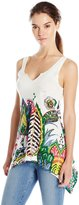 Desigual Women's Knitted T-Shirt Sleeveless 8