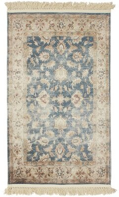 French Connection Lipinski Vegetable Dyed Cotton Brown/Navy Area Rug Rug Size: Rectangle 3' x 5'