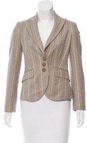 Etro Wool Contrast Stripe Blazer