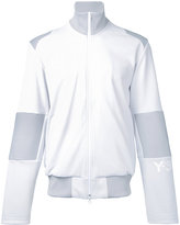 Y-3 arm logo zipped sweatshirt - men - Cotton/Polyester - S