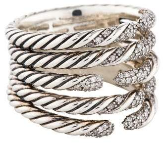 David Yurman Diamond Willow Five Row Ring