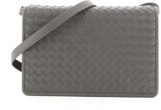 Bottega Veneta Double Compartment Flap Bag Intrecciato Nappa Medium