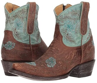 Old Gringo Laurel Short (Oryx/Aqua) Cowboy Boots