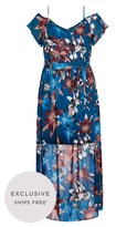 City Chic Fall Lily Cap Sleeve Maxi Dress