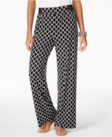 INC International Concepts Printed Wide-Leg Soft Pants, Created for Macy's