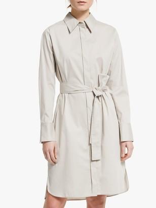 Winser London Cotton Blend Shirt Dress, Stone