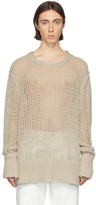 Maison Margiela Beige Chain Stitch Gauge 3 Sweater