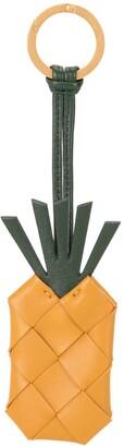 Bottega Veneta Woven Detail Pineapple Keyring