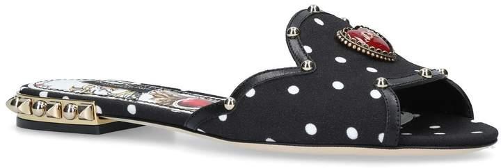 Dolce & Gabbana Embellished Polka-Dot Slides