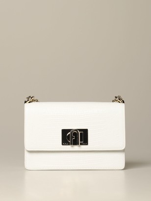 Furla Mini Bag Mini Bag In Crocodile Print Leather