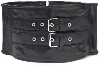McQ Pleated Leather Waist Belt