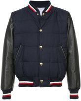 Moncler Gamme Bleu College padded bomber jacket