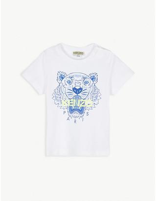Kenzo Tiger logo-print cotton T-shirt 6-36 months