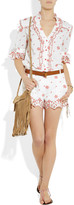 ALICE by Temperley Poppy embroidered printed cotton shorts
