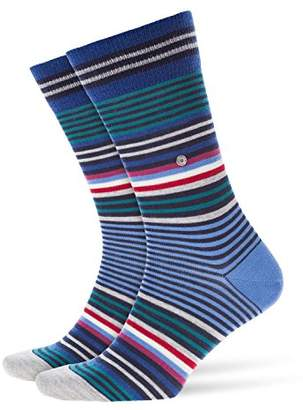 Burlington Men's Stripe Socks,7-10 (Size:40-46)