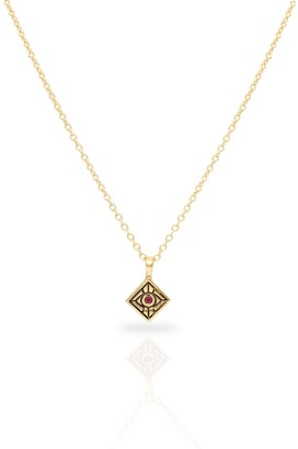 Futaba Hayashi Vision Necklace With Ruby 14k Yellow Gold