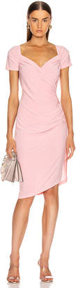 Norma Kamali for FWRD Sweetheart Side Drape Dress in Bubblegum | FWRD