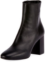 Balenciaga Leather Block-Heel Ankle Boot, Black