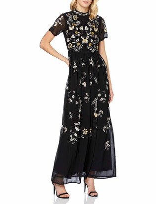 Frock and Frill Women's Josie Embroidered Maxi Dress Formal Night