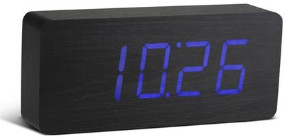GINGKO Blue Slab Black Click Clock Led - Black