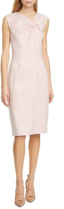 Tailored by Rebecca Taylor Twist Front Sheath Dress
