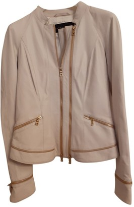 Ventcouvert White Leather Jacket for Women