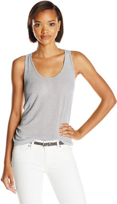 Three Dots Women's Sport Mesh Racer Back Tank Top
