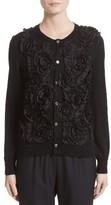 Comme des Garcons Women's Floral Applique Button Cardigan